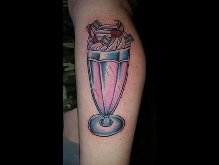 Milkshake  Neotraditional  Girly Lower Leg