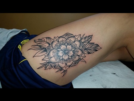 Mandala  Flower Thigh