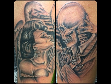 Black And Gray  Realism Arm