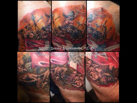 Barbarian  War  Viking  Frazetta Shoulder