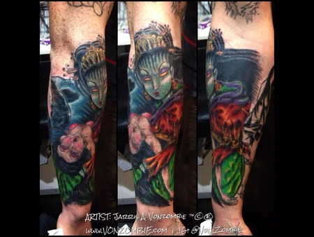 Demon  Japanese  Maiden  Geisha Forearm