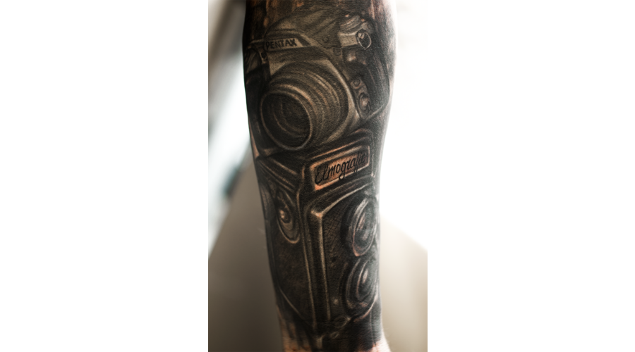 Realism Camera  Black Grey Forearm