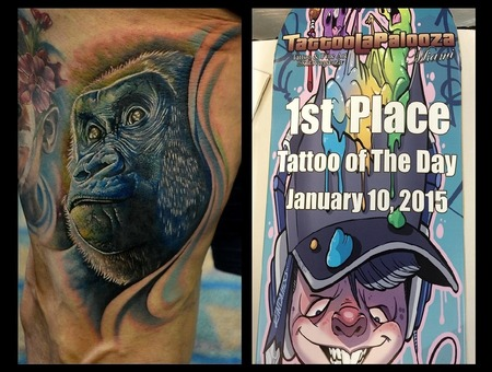 Gorilla Tattoo  Tattoo Of The Day  Photorealism Tattoo  Animal Tattoos Thigh