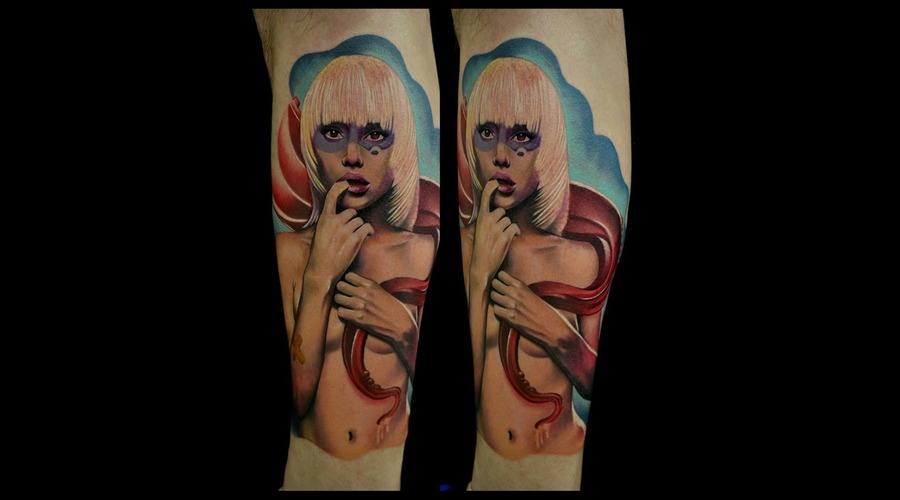Woman Tattoos  Color Tattoos  Photorealistic Tattoos   Lower Leg