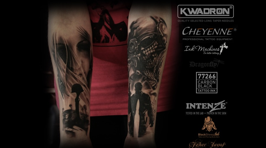 1 Place Best Of Black And Grey Zwickau Forearm