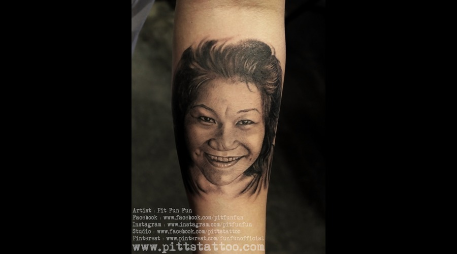 Portrait Tattoo By Pit Fun Fun Forearm