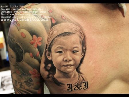 Portrait Tattoo By Pit Fun Fun Chest