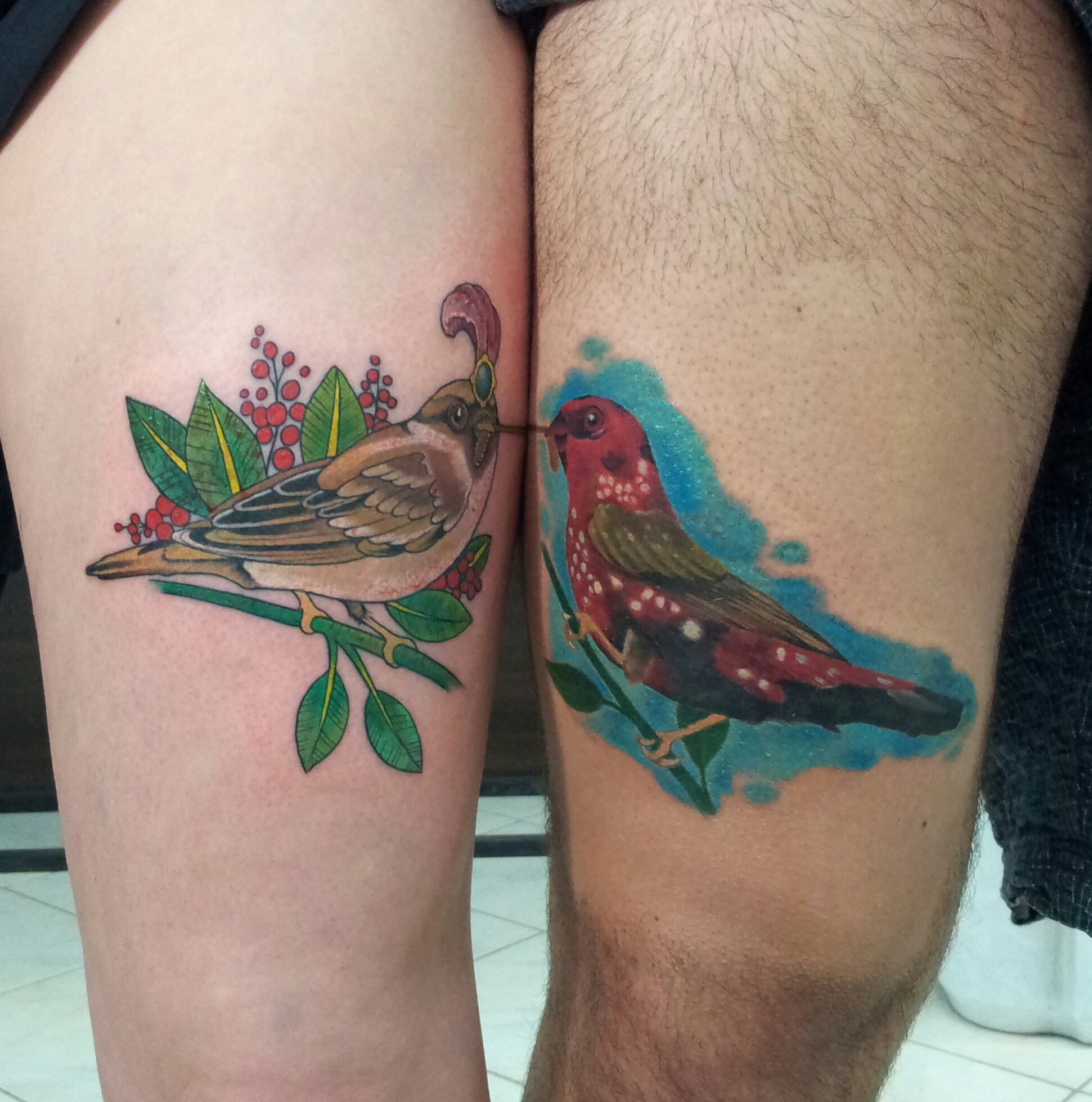 small tattoo birds