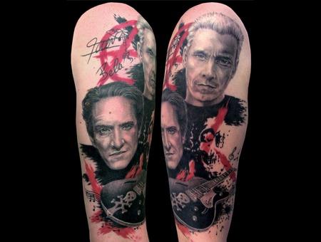 Missnico  Nico  Tattoo  Allstyle  Realism  Portrait  Trash  Dieärzte Arm