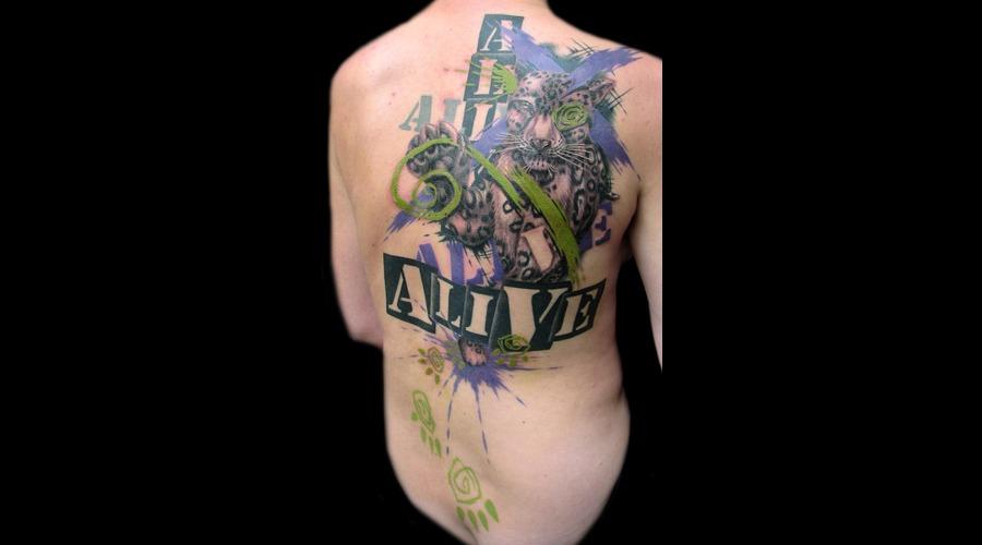 Missnico  Nico  Tattoo  Allstyle  Trash  Trashpolka  Leopard  Graphic Shoulder