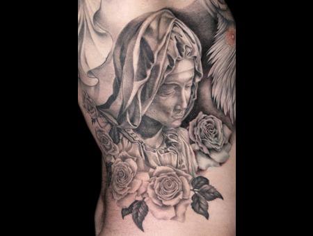 Missnico  Nico  Tattoo  Allstyle  Pieta  Madonna  Religion Ribs