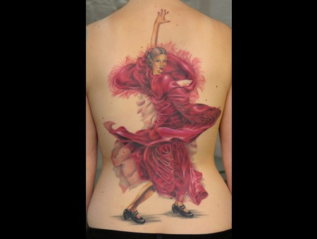 Nico  Tattoo  Allstyle  Dancer  Backpiece  Colortattoo  Flamenco  Realistic Back