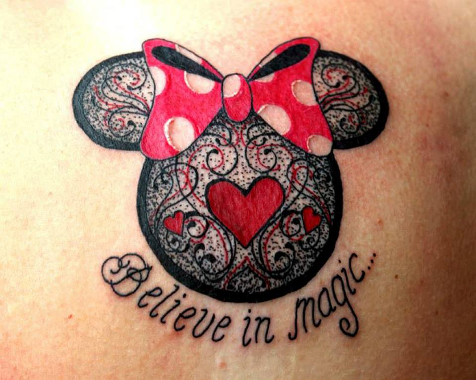 Disney Minnie Minniemouse Lace Bow Shoulder