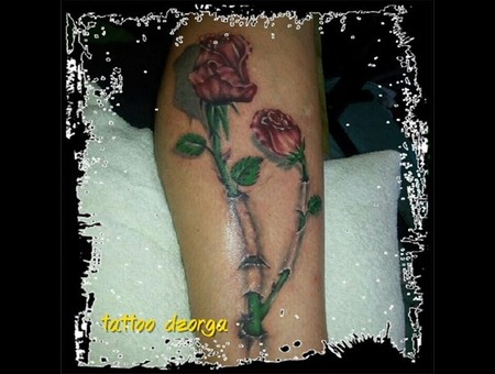 Realistic Rose Lower Leg