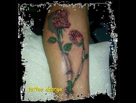 Realistic Rose Lower Leg