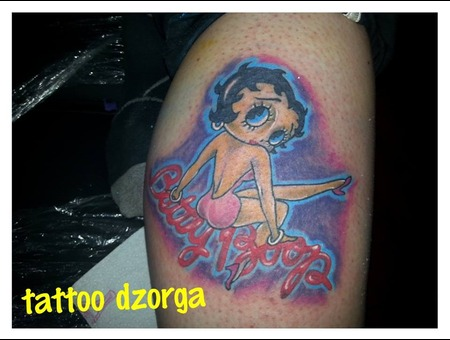 Betty Boop Lower Leg