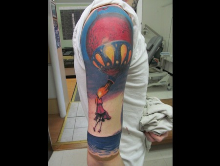 Surrealism  Hot Air Balloon  Unfinished Arm