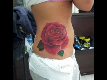 Flower.Rose Ribs