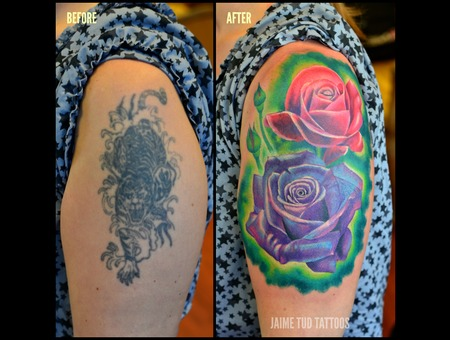 Cover Up  Roses  Flower  Realism Arm