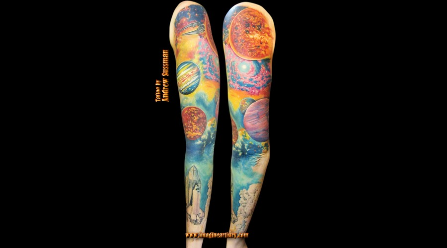 Galaxy Outer Space Planets Stars Saturn Mars Arm