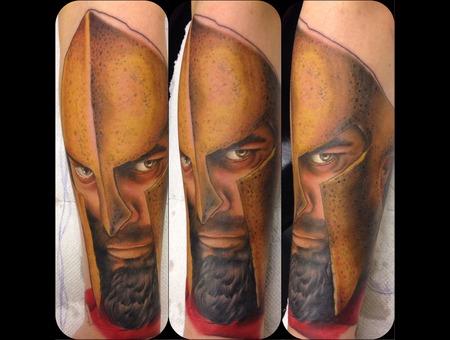 Realism Iconic Leonidas 300 Portrait Forearm