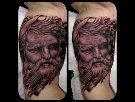 Poseidon Greek God Realism Portrait Arm