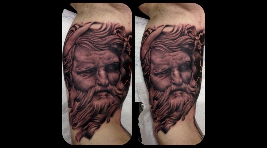 Poseidon Greek God Realism Portrait Arm