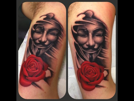 Realism Vendetta V Rose Portrait Color Arm