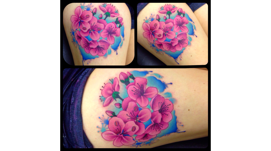 Realism Traditional Flowers Cherryblossom Thigh