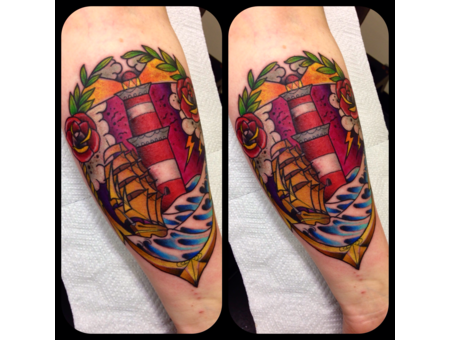 Traditional Neotraditional Newtraditional Scenic Forearm