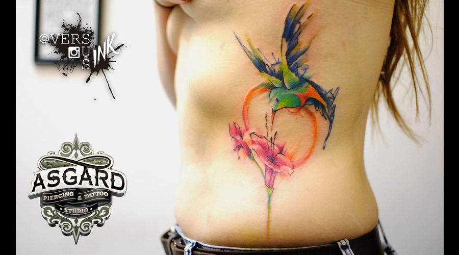 Watercolour  Watercolor  Splash  Modern  Art  Flowers  Freehand  Sketch Ribs