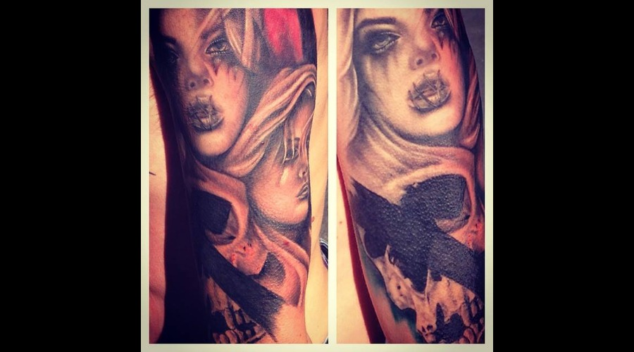 Realism  Portrait  Skull  Dark  Thrash  Women  Face Arm