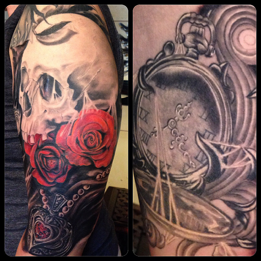 Sean mccready certified artist for Time piece tattoos