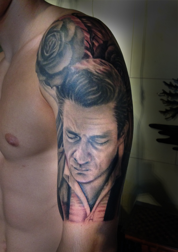 Traditional Tattoo Johnny Cash Www Picswe Com