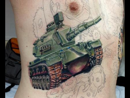 Tank  Tattoo  Color  Realism Ribs