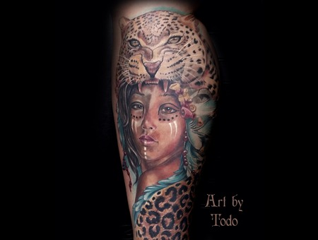 Portrait Leopard Realism Lower Leg