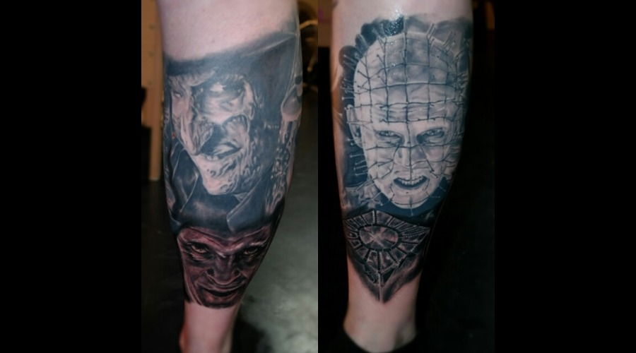 Horror Freddy Pin Head Hanibal Iconic Realism Cube Healed Uktta Portraits Lower Leg