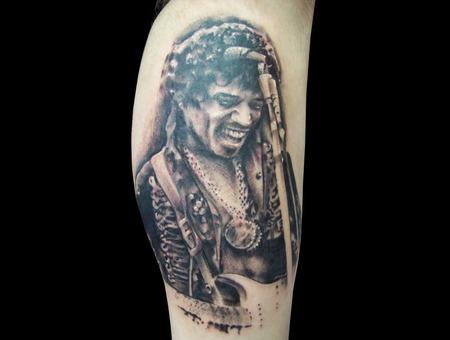 Jimi Hendrix Black White