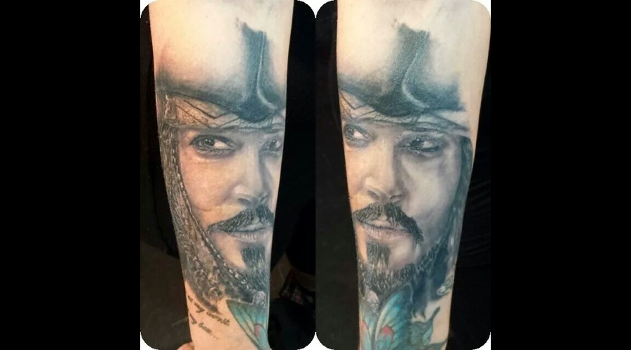 Jack Sparrow Johnny Depp Pirate Disney Portrait Classic Forearm