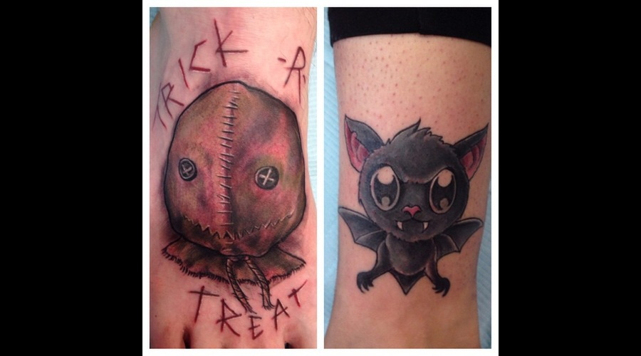 Sam  Trick R Treat  Cute Bat Lower Leg