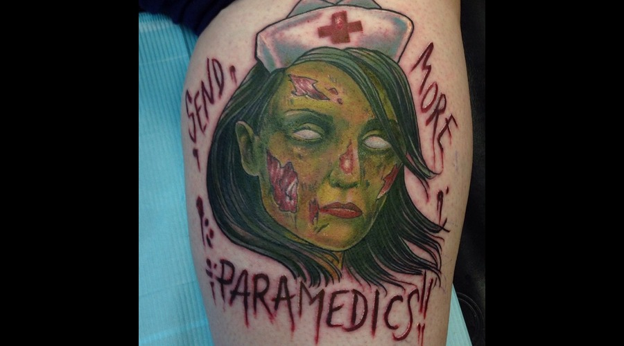 Send More Paramedics  Zombie Nurse Lower Leg