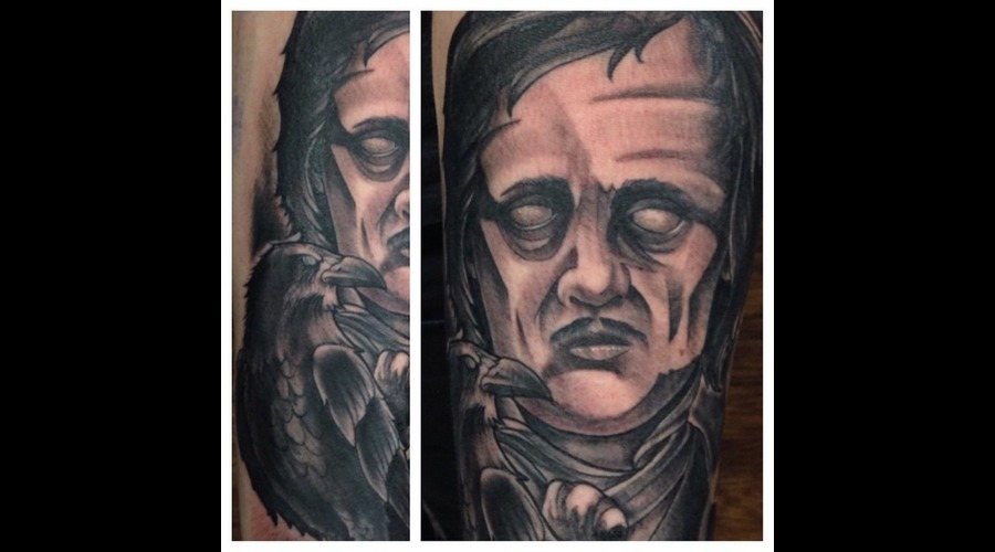 Edgar Allan Poe  Raven  Nevermore  Creepy Forearm