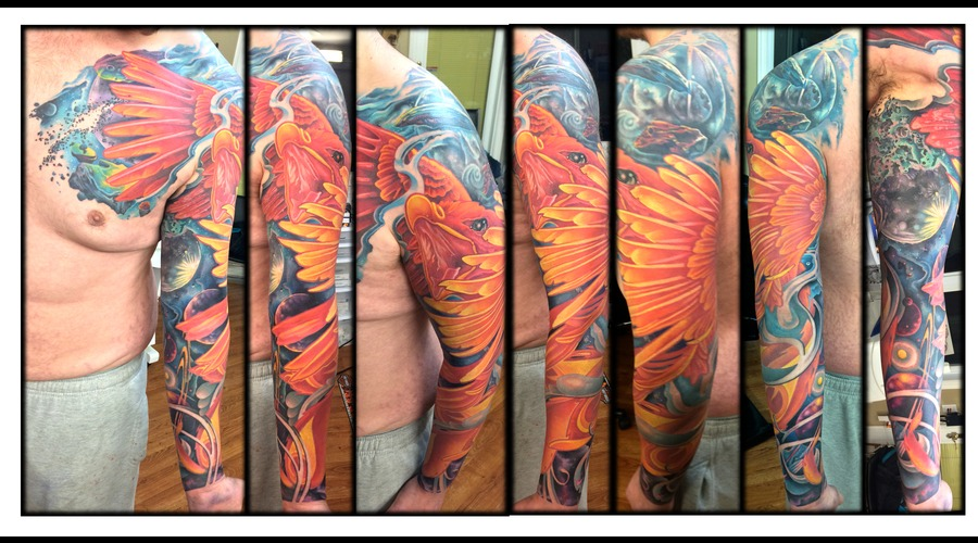 Sleeve  Color  Realistic  New Skool  Pheonix  Space  Outerspace   Arm