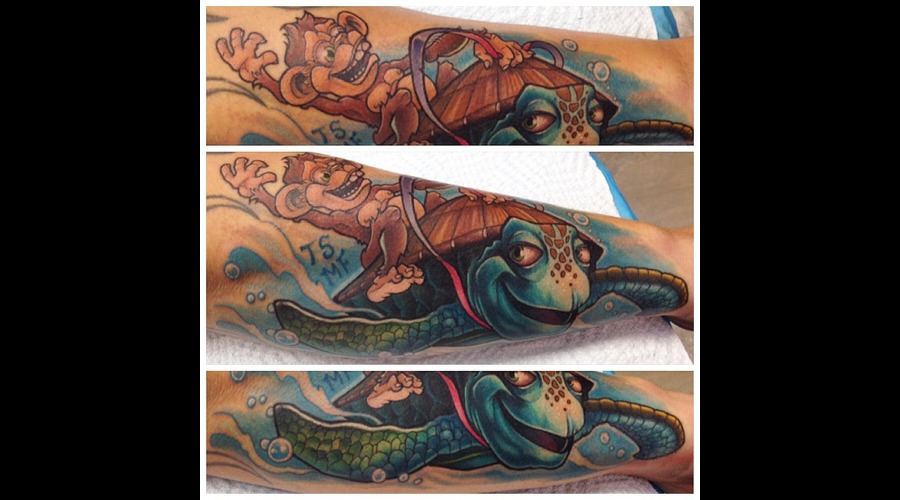 Monkey  Sea Turtle  For The Kids  Forearm