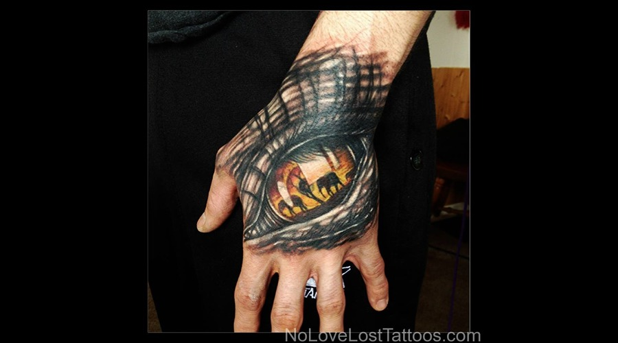 Hand Tattoo  Eye  Elephant Forearm