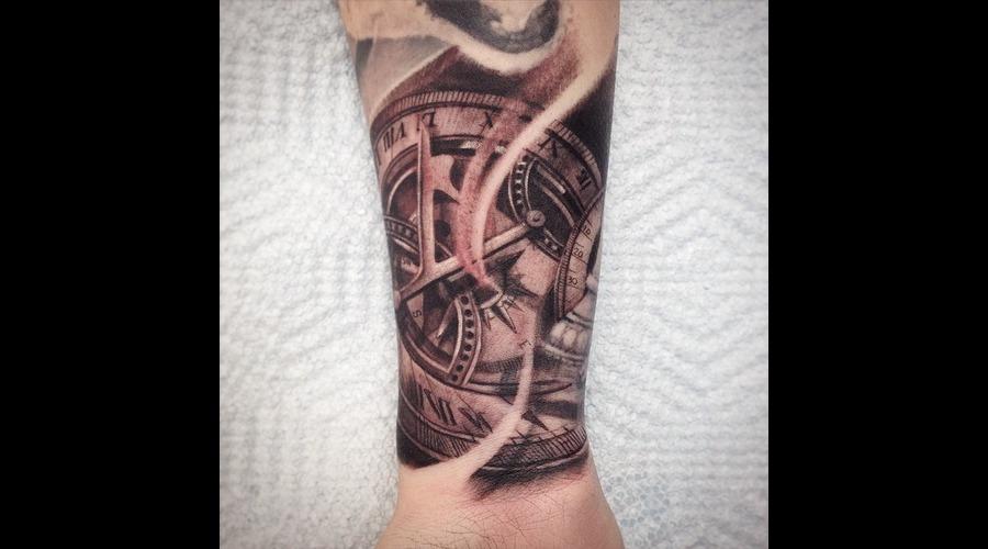 Wrist Clock Sundial  Forearm