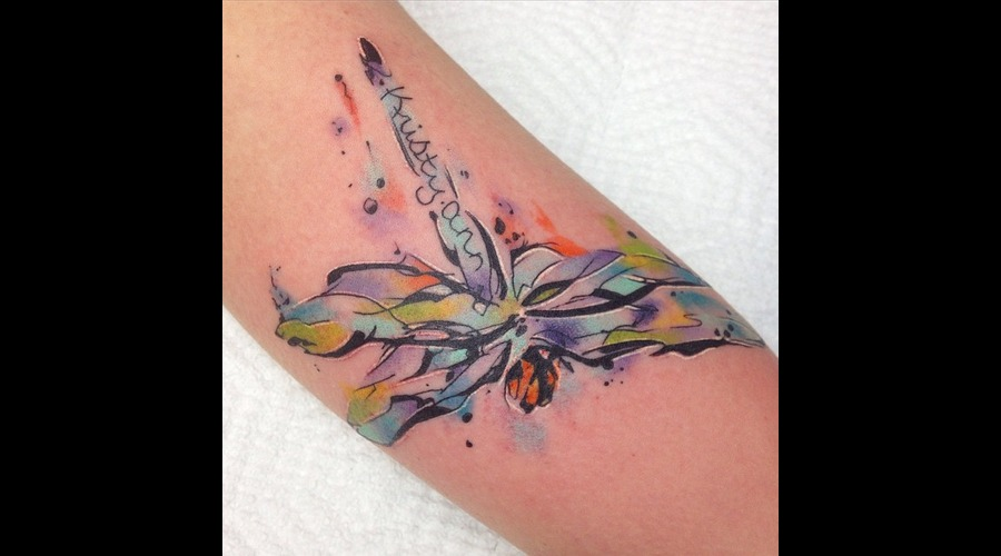 Dragonfly  Memorial  Watercolor Arm