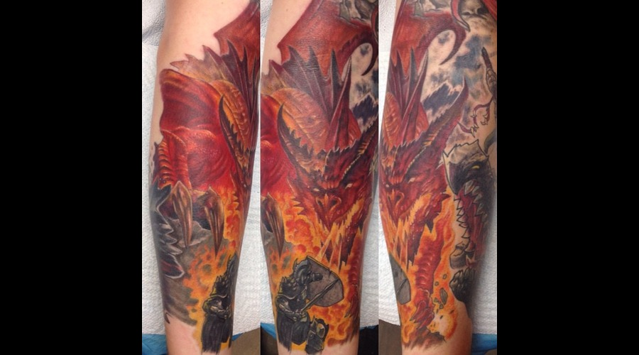 Dragon  Knight  Fire  Medieval     Forearm