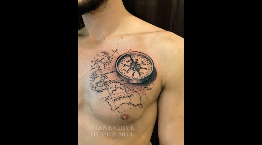 Map  Compass  Travel  Realism  Realistic Chest