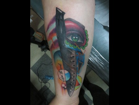 Chef  Knife Forearm